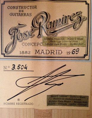 Jose Ramirez 1969 - Guitar 6 - Photo 6