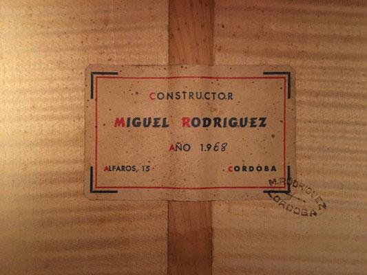 Miguel Rodriguez 1968 - Guitar 4 - Photo 7