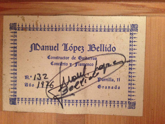 Manuel Bellido 1976 - Guitar 1 - Photo 7