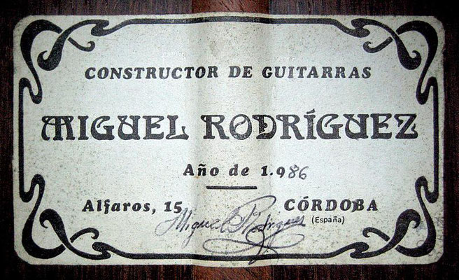 Miguel Rodriguez 1986 - Guitar 2 - Photo 6