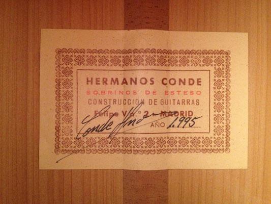 Hermanos Conde - Sobrinos de Esteso - 1995 - Guitar 3 - Photo 2