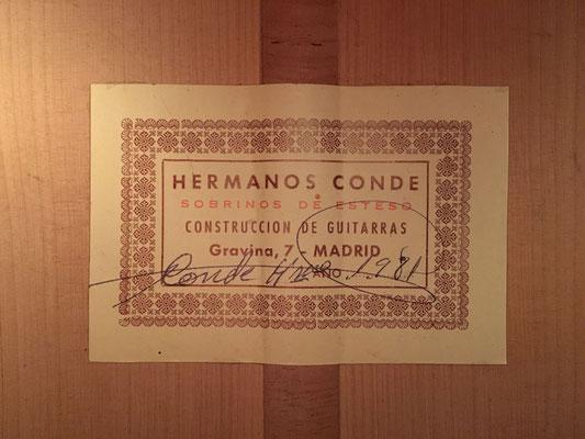 Hermanos Conde 1981 - Guitar 6 - Photo 10