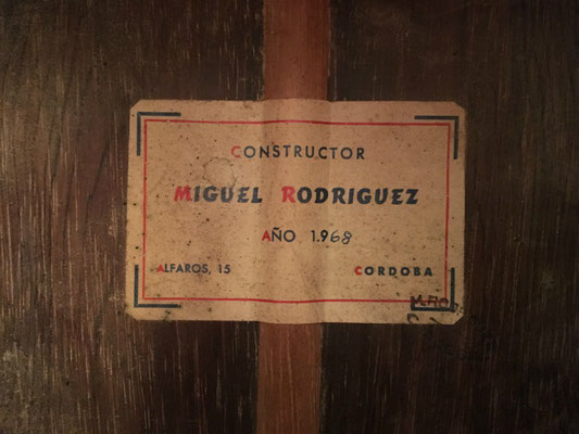 Miguel Rodriguez 1968 - Guitar 3 - Photo 3