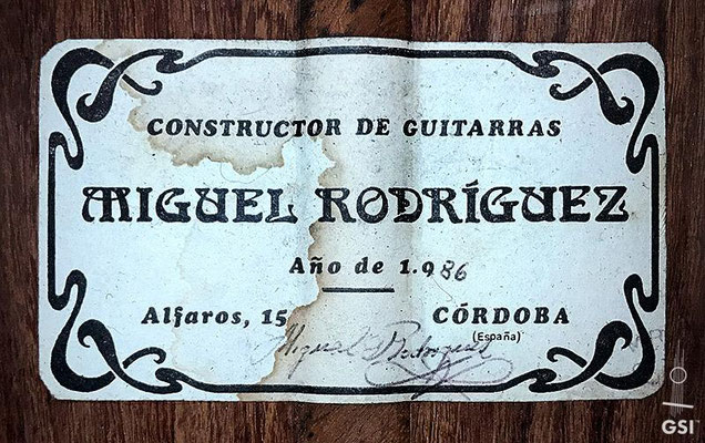 Miguel Rodriguez 1986 - Guitar 4 - Photo 12