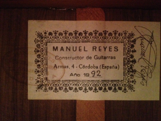 Manuel Reyes 1992 - Guitar 1 - Photo 22