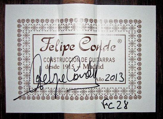 Felipe Conde 2013 - Guitar 1 - Photo 1