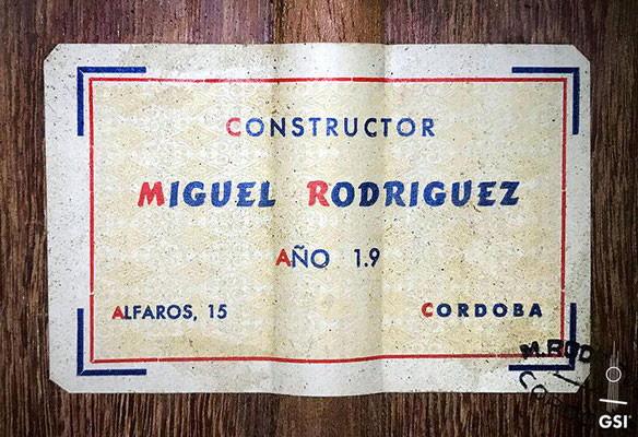Miguel Rodriguez 1977 - Guitar 2 - Photo 9