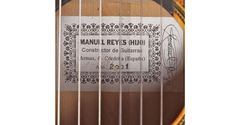 Manuel Reyes Hijo 2001 - Guitar 3 - Photo 5