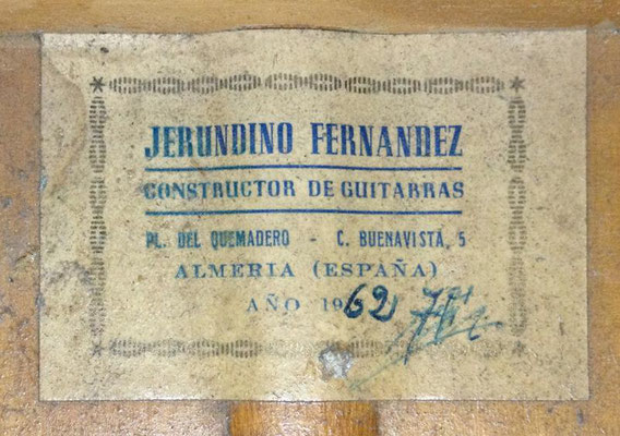 Gerundino Fernandez 1962 - Guitar 2 - Photo 2