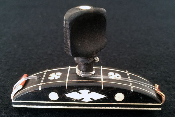 CAPO - CEJILLA - EBONY WITH MOTHER OF PEARL ORNAMENTS