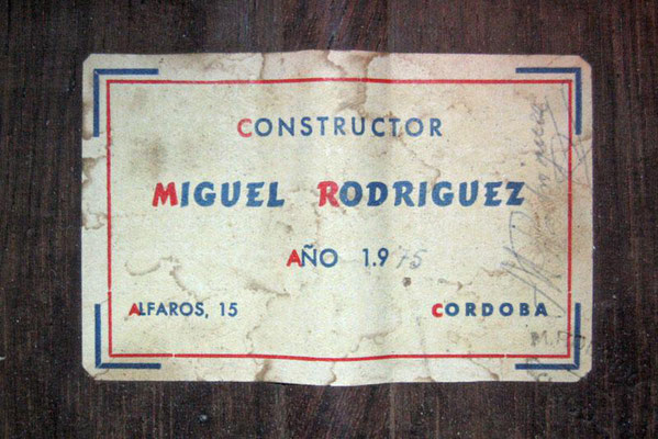 Miguel Rodriguez 1975 - Guitar 1 - Photo 4