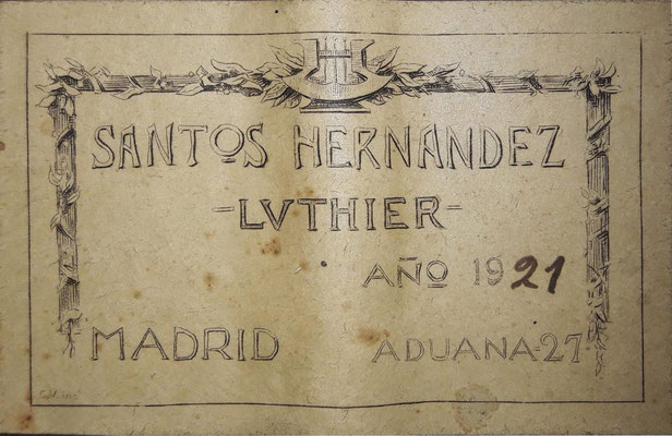 Santos Hernandez 1921 - Guitar 4 - Photo 19