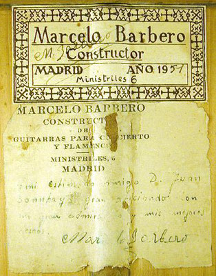 Marcelo Barbero 1951 - Guitar 1 - Photo 1
