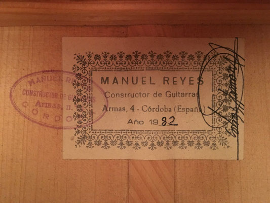 Manuel Reyes 1982 - Guitar 3 - Photo 30