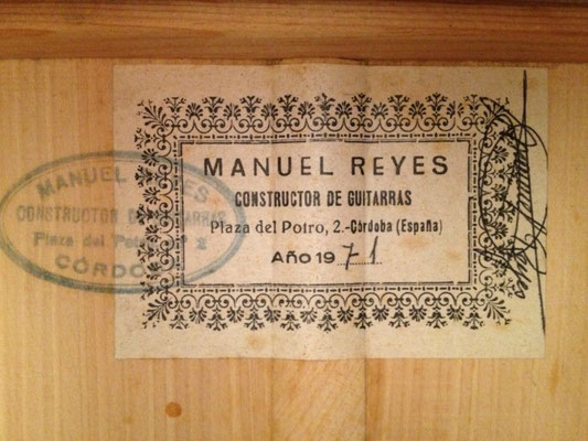 Manuel Reyes 1971 - Guitar 2 - Photo 2