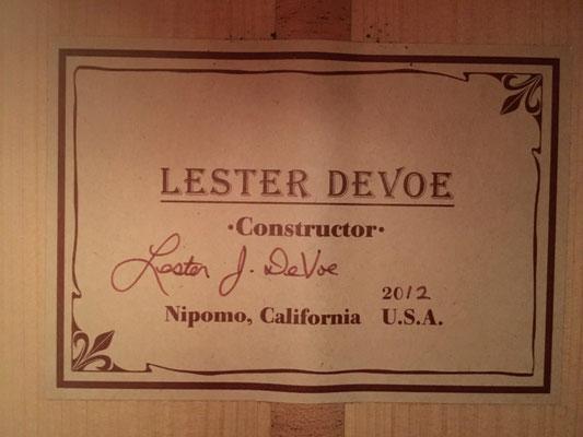 Lester Devoe 2012 - Guitar 4 - Photo 2