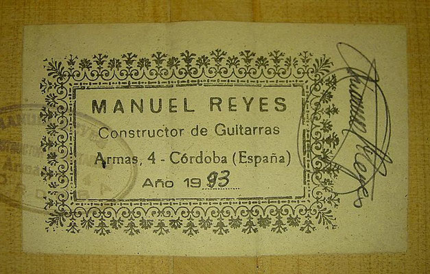Manuel Reyes 1993 - Guitar 1 - Photo 6