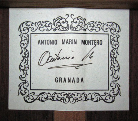 Antonio Marin Montero 1994 - Guitar 1 - Photo 6