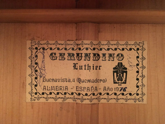 Gerundino Fernandez 1976 - Guitar 2 - Photo 3