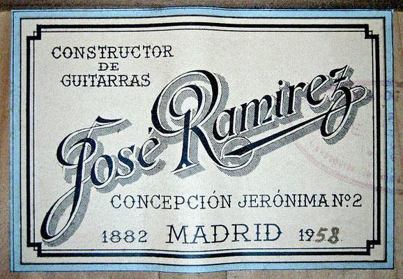 Jose Ramirez 1958 - Guitar 1 - Photo 6