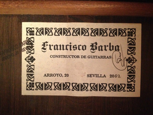 Francisco Barba 2002 - Guitar 4 - Photo 2