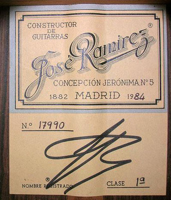 Jose Ramirez 1984 - Guitar 1 - Photo 3