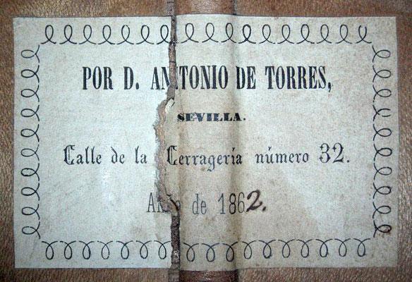 Antonio de Torres 1862 - Guitar 1 - Photo 3