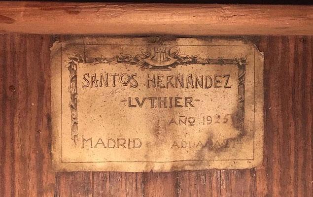 Santos Hernandez 1925 - Guitar 3 - Photo 5