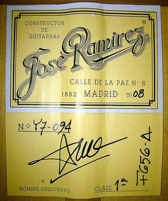 Jose Ramirez 2008 - Guitar 4 - Photo 6