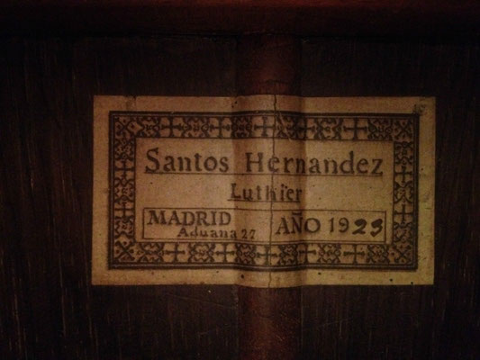 Santos Hernandez 1923 - Guitar 1 - Photo 2