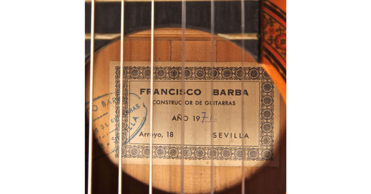 Francisco Barba 1971 - Guitar 1 - Photo 5