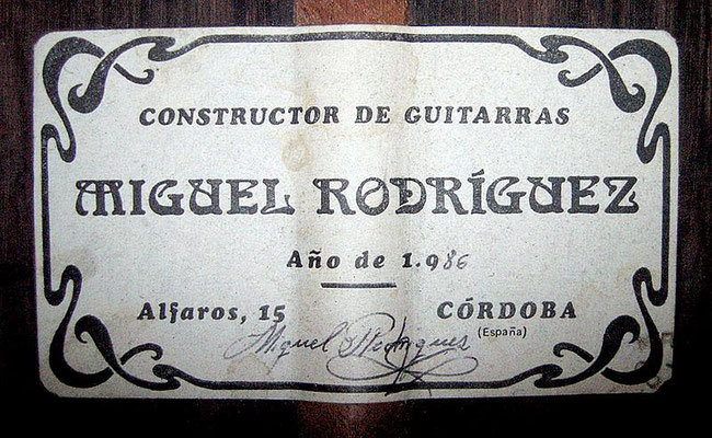 Miguel Rodriguez 1986 - Guitar 1 - Photo 3