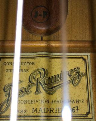 Jose Ramirez 1967 - Guitar 6 - Photo 34
