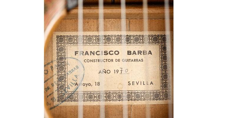 Francisco Barba 1970 - Guitar 2 - Photo 5