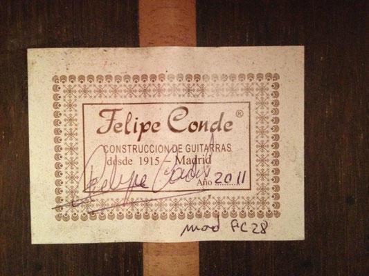 Felipe Conde 2011 - Guitar 6 - Photo 2