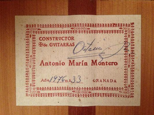 Antonio Marin Montero 1976 - Guitar 1 - Photo 8