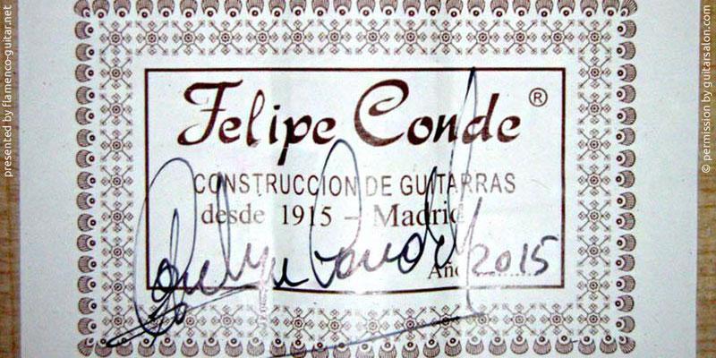 HERMANOS CONDE - FELIPE CONDE 2015 - LABEL - ETIKETT - ETIQUETA