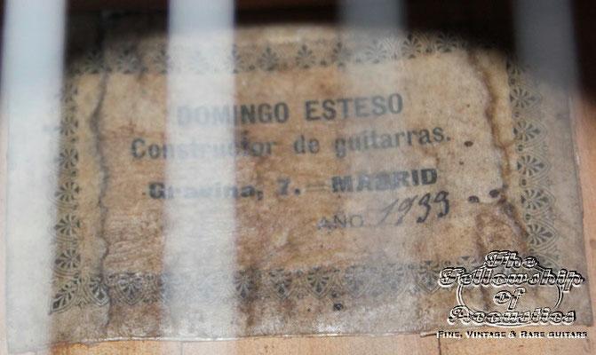 Domingo Esteso 1933 - Guitar 1 - Photo 1