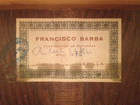Francisco Barba 1973 - Guitar 2 - Photo 2