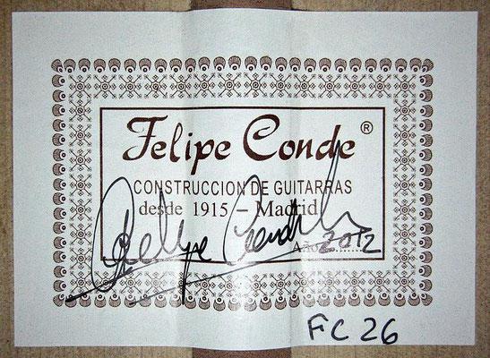 Felipe Conde 2012 - Guitar 7 - Photo 1