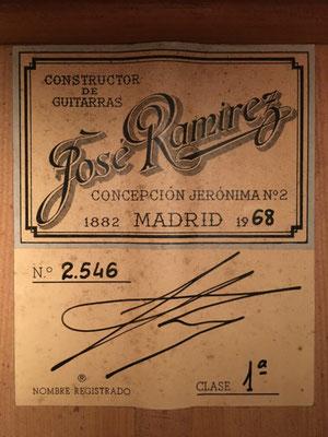 Jose Ramirez 1968 - Guitar 4 - Photo 3