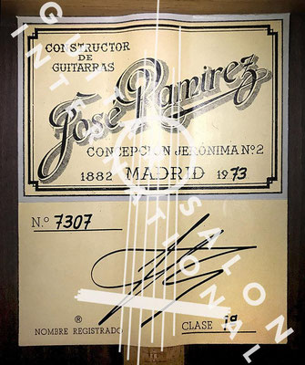 Jose Ramirez 1973 - Guitar 4 - Photo 3