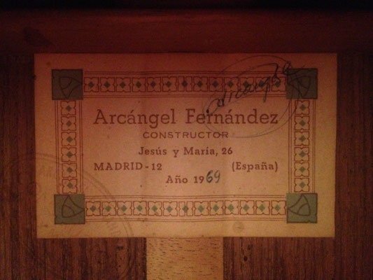 Arcangel Fernandez 1969 - Guitar 1 - Photo 4