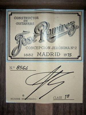 Jose Ramirez 1975 - Guitar 1 - Photo 1