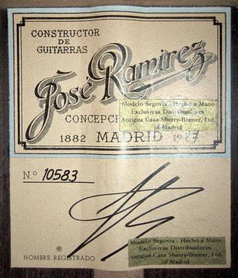 Jose Ramirez 1977 - Guitar 1 - Photo 9