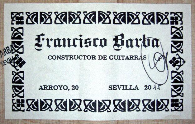 Francisco Barba 2015 - Guitar 4 - Photo 3