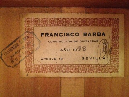Francisco Barba 1988 - Guitar 1 - Photo 2