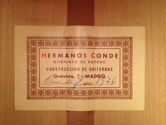 Hermanos Conde 1976 - Label - Etikett  Guitar 1 - Photo 2