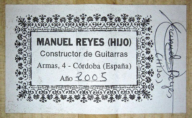 Manuel Reyes Hijo 2005 - Guitar 3 - Photo 6