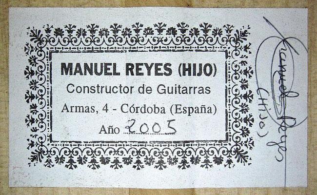 Manuel Reyes Hijo 2005 - Guitar 3 - Photo 6